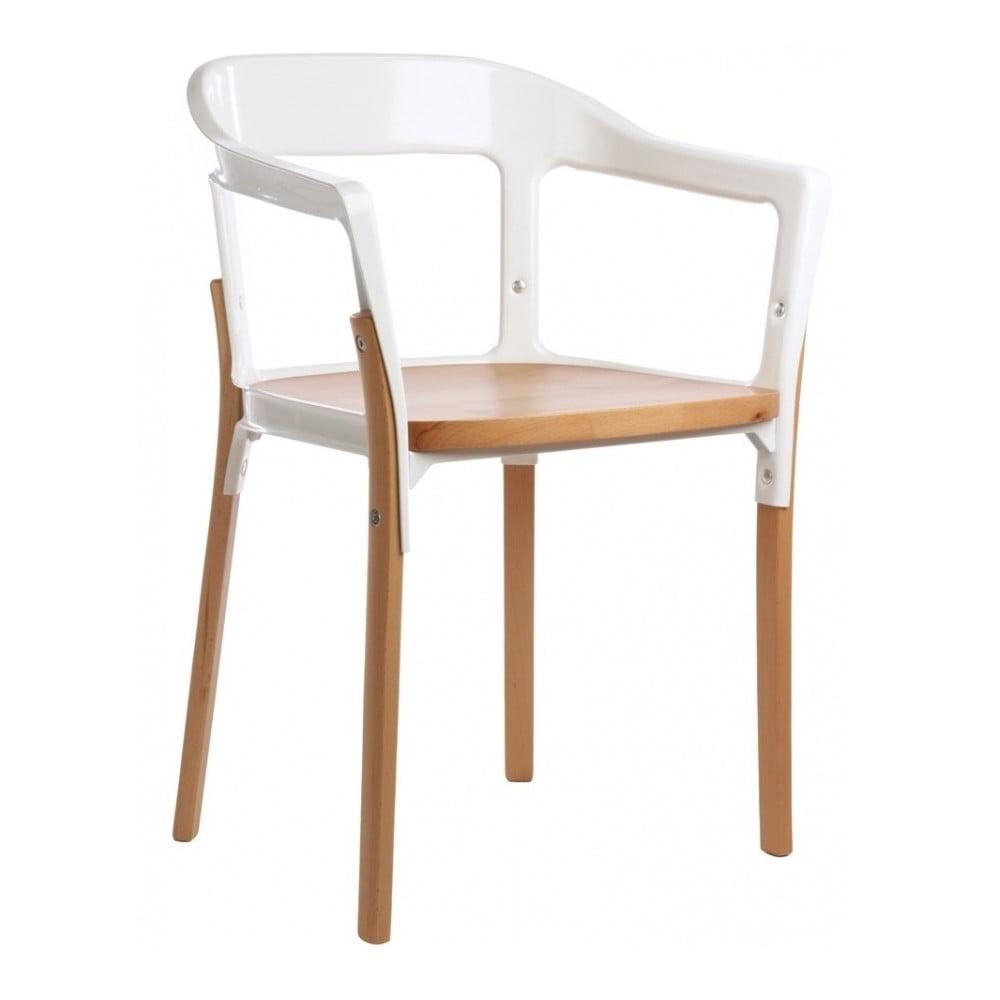 Biało-brązowe krzesło Magis Steelwood