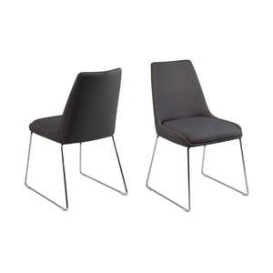 Zestaw 2 ciemnoszarych krzeseł Actona Alison