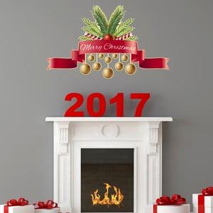 Naklejka świąteczna Ambiance Merry Christmas Golden Decoballs