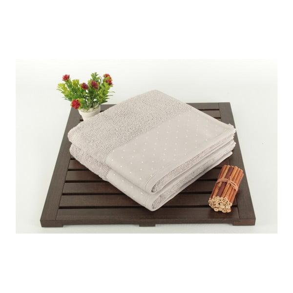 Zestaw 2 jasnoszarych ręczników Patricia, 50x90cm