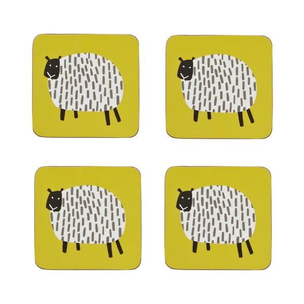 Zestaw 4 podstawek Dotty Sheep