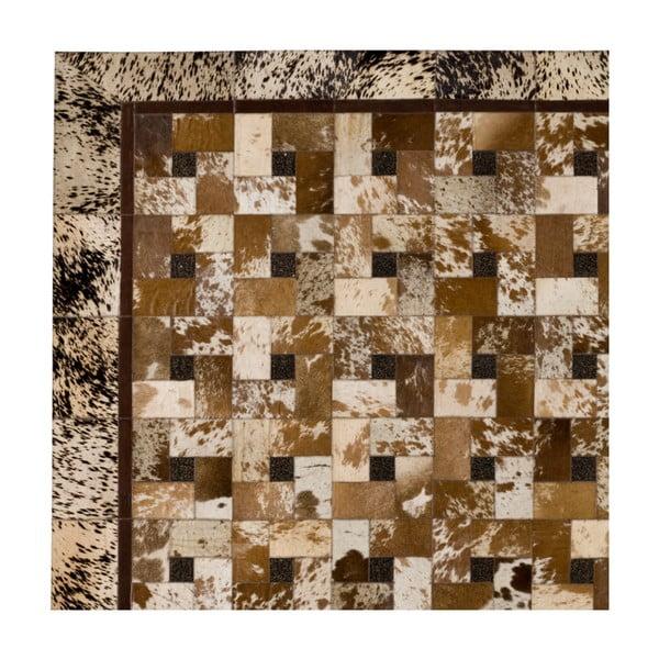 Skórzany dywan Alamida Beige, 170x240 cm