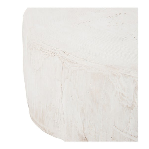 Biały stolik J-Line Met, 42 cm
