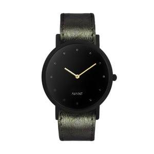 Czarny zegarek unisex z ciemnozielonym paskiem South Lane Stockholm Avant Pure