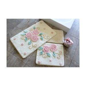Zestaw 3 dywaników łazienkowych Flowerins