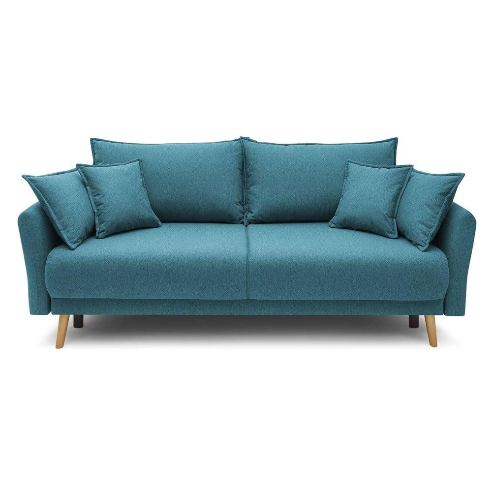 Turkusowoniebieska rozkładana sofa Bobochic Paris Mia