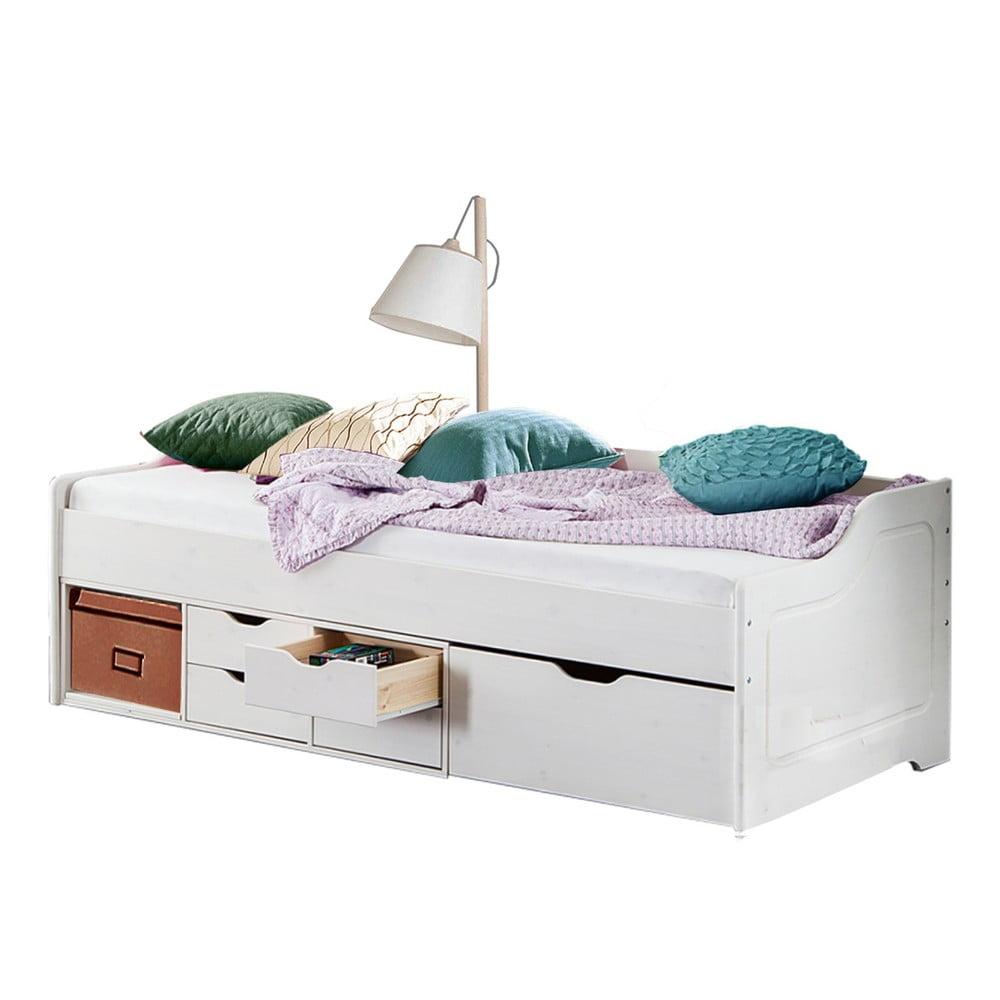 Białe łóżko Jednoosobowe Z Litego Drewna Sosnowego Støraa Marco Bonami