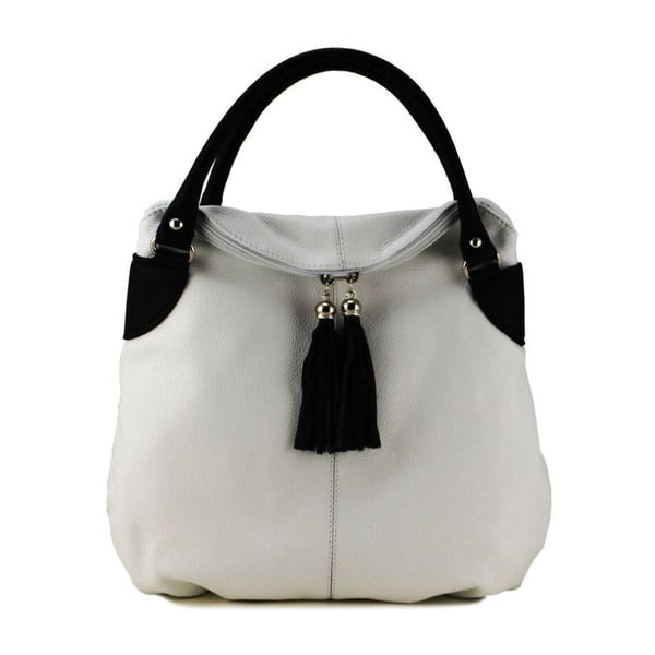 Skórzana torebka Blanca Bianco Nero
