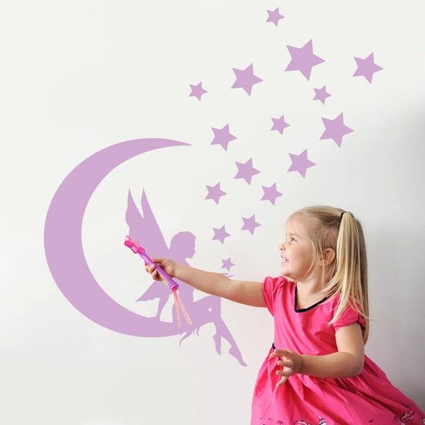 Naklejka dekoracyjna na ścianę Czarodziejka na księżycu