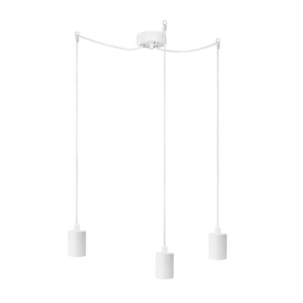 Biała lampa wisząca z 3 kablami Bulb Attack Cero Basic