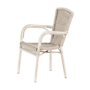 Białe ogrodowe krzesło sztaplowane Massive Home Granada