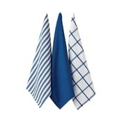 Zestaw 3 niebieskich ścierek kuchennych Ladelle Butcher Stripe