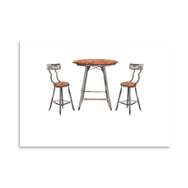 Autorski plakat Café Table, 30x42 m