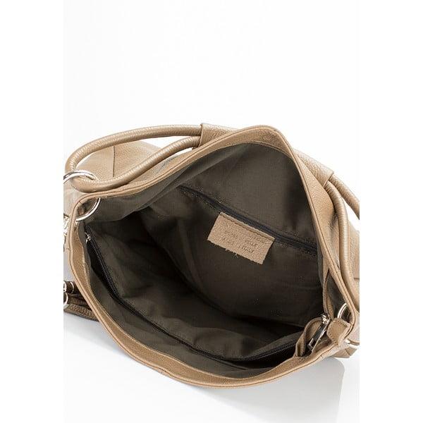 Beżowa torebka skórzana Lisa Minardi Herta