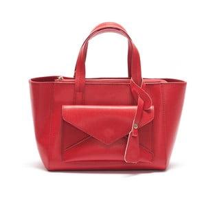 Skórzana torebka Mangotti 447, czerwona