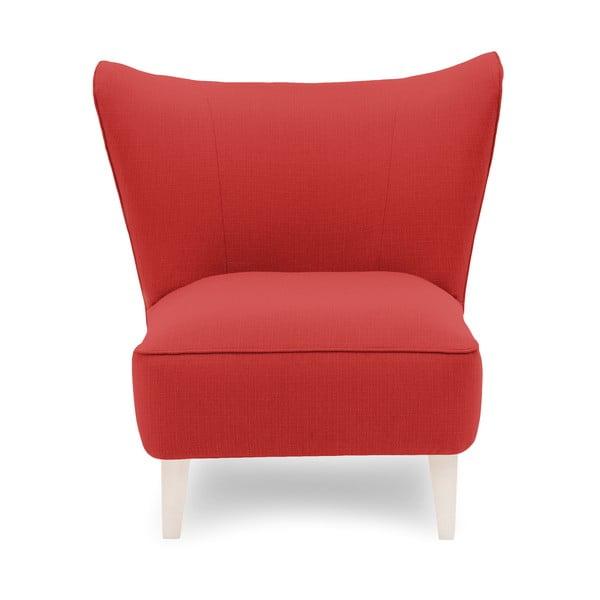 Czerwony fotel z jasnymi nogami Vivonita Sandy