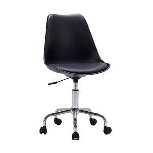 Czarne krzesło biurowe House Nordic Stavanger