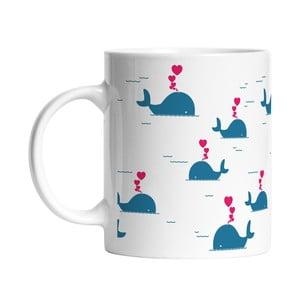 Ceramiczny kubek Blue Whales, 330 ml