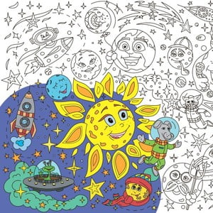 Kolorowanka Creative Gifts Vesmír