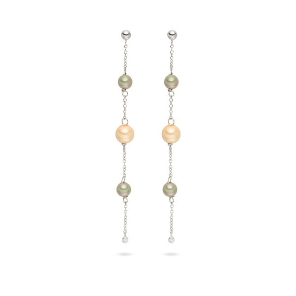 Wiszące   kolczyki z pereł Pearls of London Elegance, 9 cm