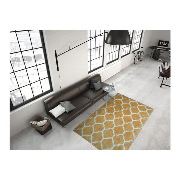 Żółty dywan Smooth, 160x230cm