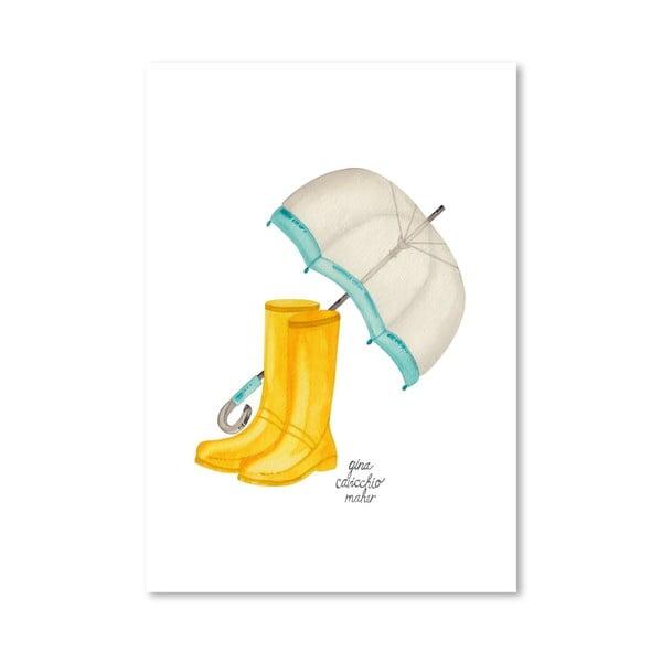 Autorski plakat Rain Boots, 30x42 m
