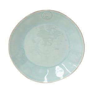 Turkusowy ceramiczny talerz Ego Dekor Nova,Ø27 cm