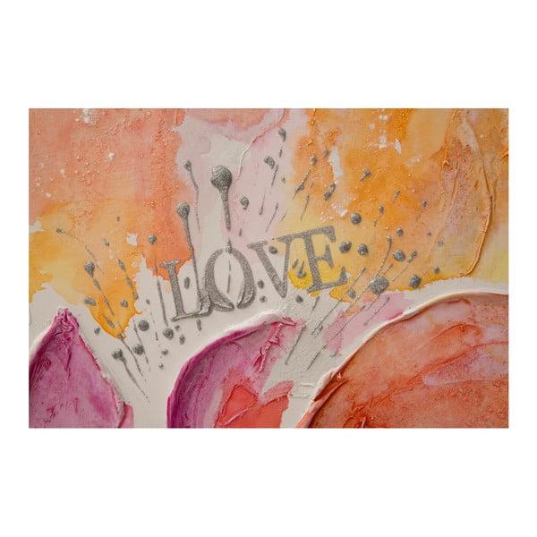 Obraz ręcznie malowany Mauro Ferretti Fiore, 80x80 cm