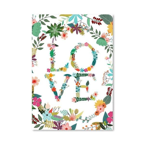 Plakat (projekt: Mia Charro) - Love