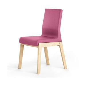 Różowe krzesło dębowe Absynth Kyla