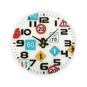 Zegar   ścienny Versa Traffic, 30 cm