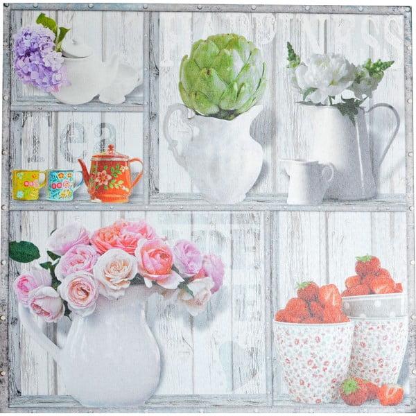 Obraz Kwitnące półki, 50x50 cm