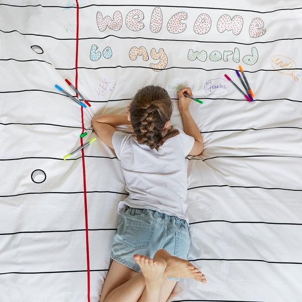 Pościel do kolorowania Doodle, 140x200 cm