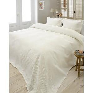Kremowa narzuta na łóżko z 2 poszewkami na poduszki Dreamhouse Charlene,260x250cm