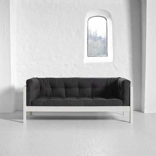 Sofa dwuosobowa Karup Fusion White/Linoso Dark Gray
