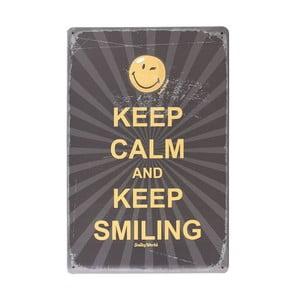 Tablica Keep Smiling, 20x30 cm