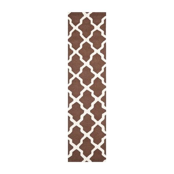 Dywan Ava 76x182 cm, brązowy