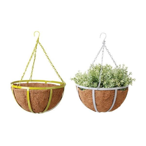 Zestaw 2 wiszących doniczek z włókna kokosowego Magic, 30 cm