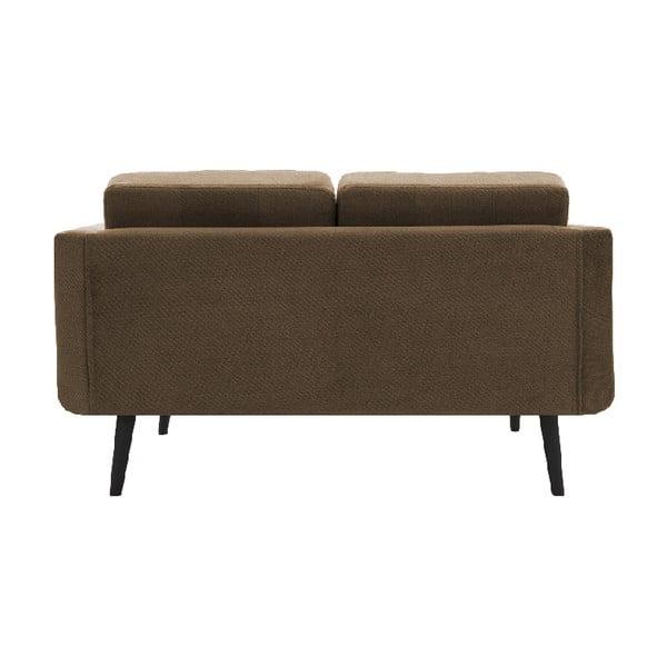 Sofa dwuosobowa VIVONITA Sondero Light Brown, czarne nogi
