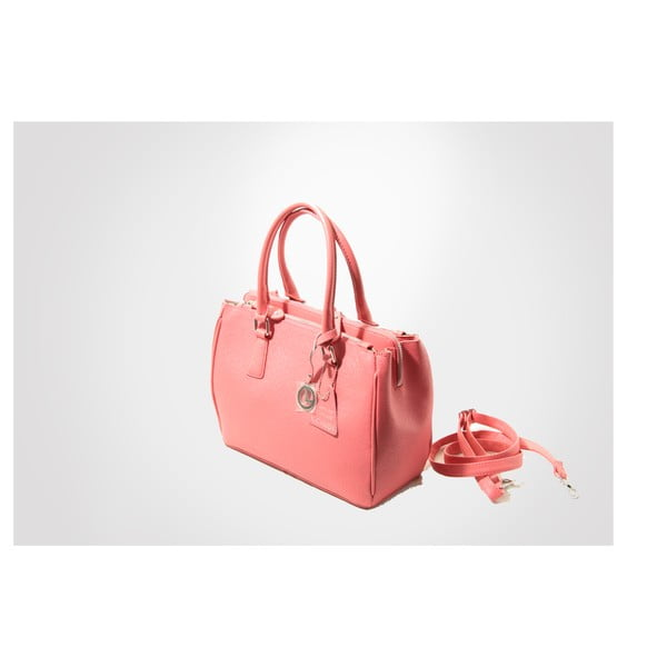 Skórzana torebka Lily, pink