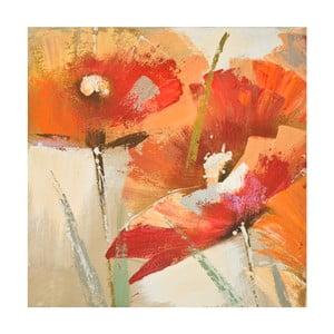 Obraz ręcznie malowany Mauro Ferretti Flowers, 60x60cm