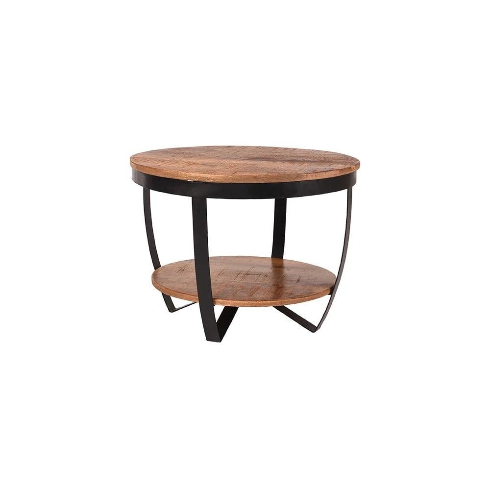 Stolik z blatem z drewna mango LABEL51 Rondo, ⌀60cm