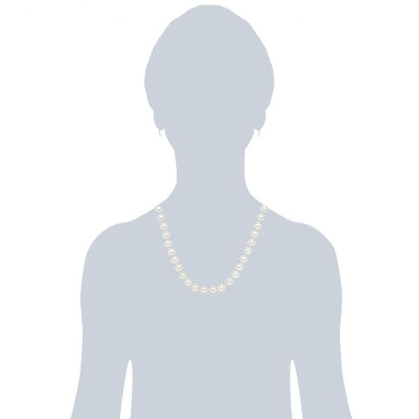 Naszyjnik z białych pereł ⌀ 10 mm Perldesse Muschel, długość 50 cm
