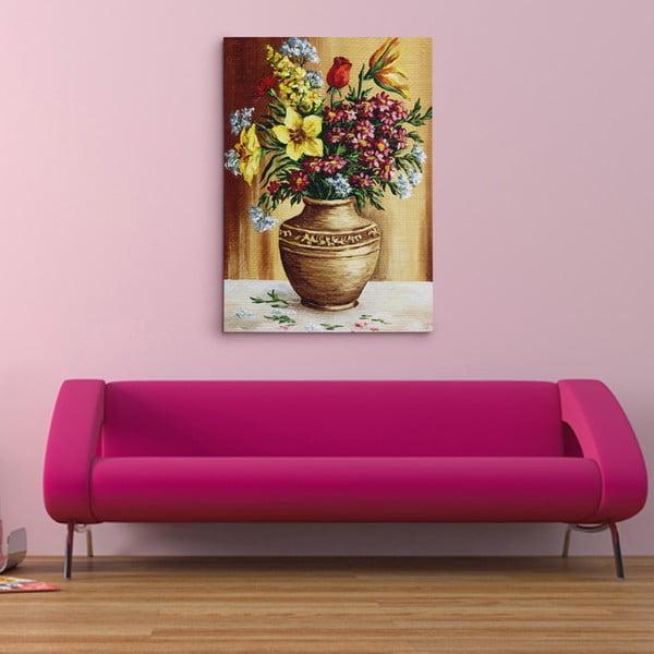 """Obraz na płótnie """"Wazon pełen kwiatów"""", 50x70 cm"""