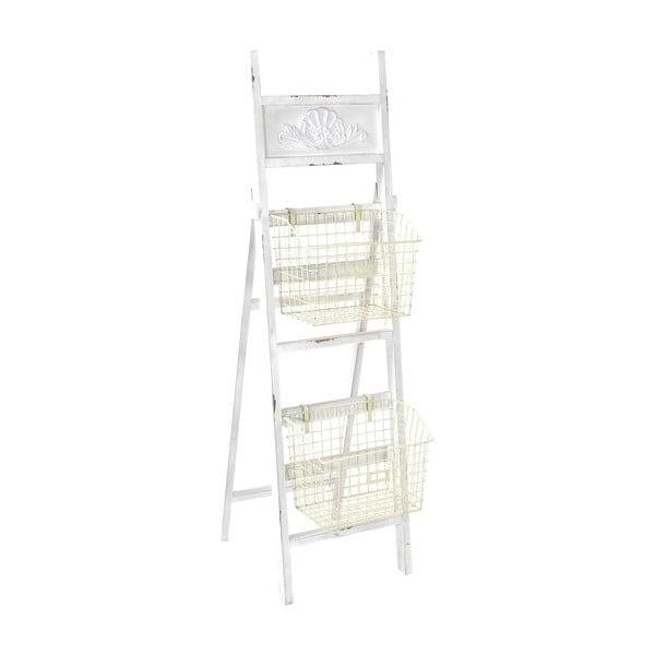 Drewniana drabinka z koszykami Ladder