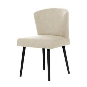 Kremowe krzesło z czarnymi nogami My Pop Design Richter