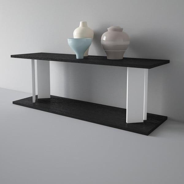 Półka Replay 110x39 cm, czarno-biała