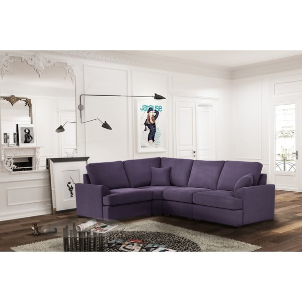 Sofa narożna Jalouse Maison Irina, lewy róg, fioletowa