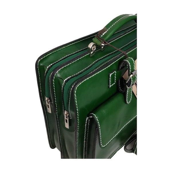 Skórzana torba Cortese, zielona