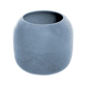 Niebieski betonowy kubek na szczoteczki Iris Hantverk